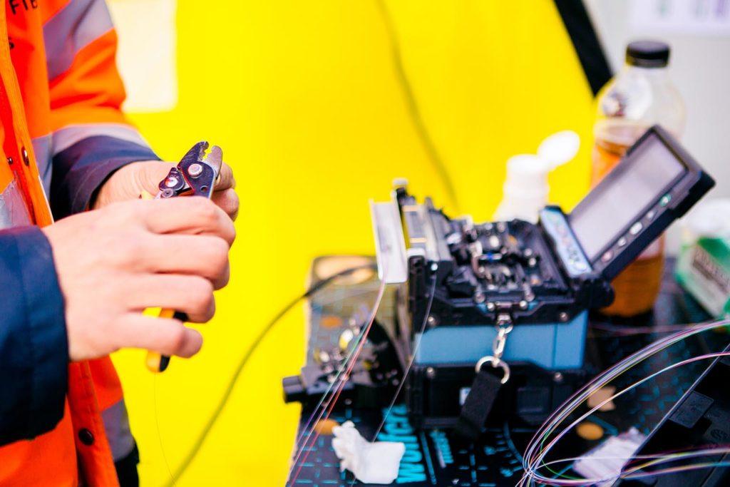raccordement fibre optique-chantier ssmartfib